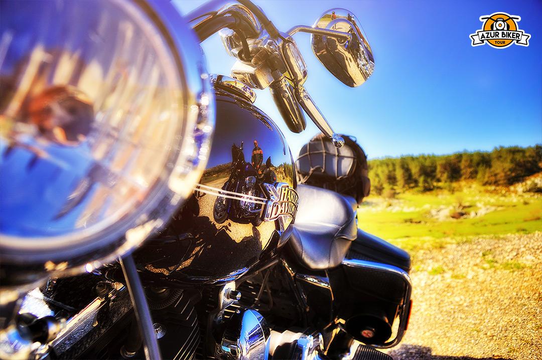 l'arrière pays en Harley demi journée