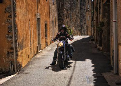 Balade moto avec guide