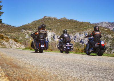 Harley sur la route du Verdon